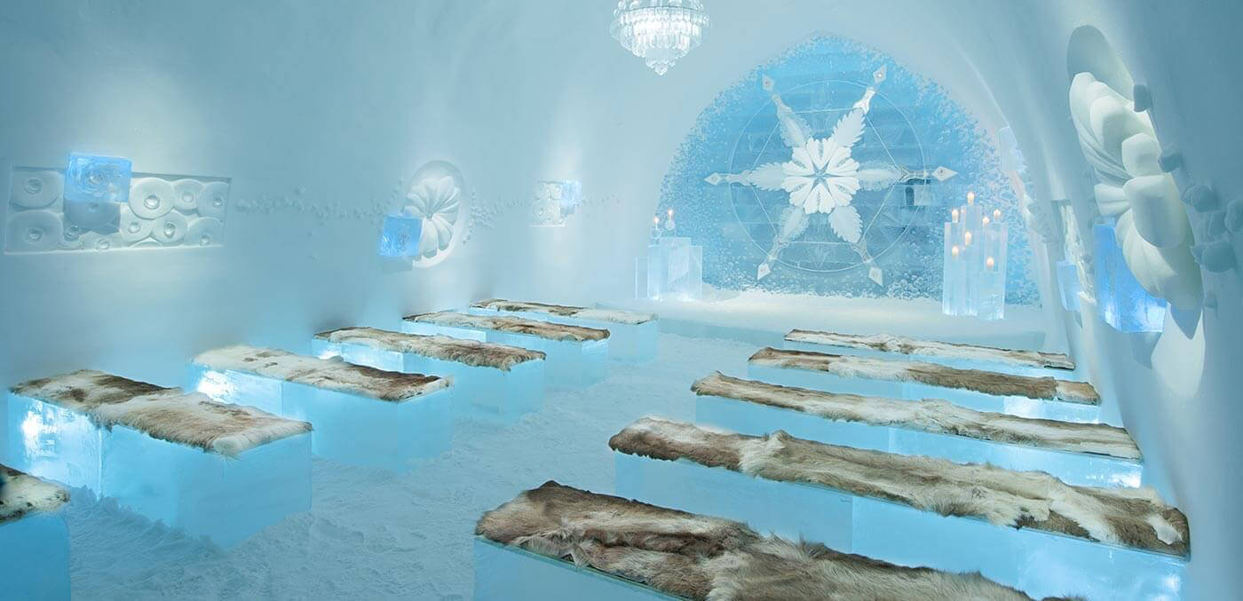 Ice ceremony in the Icehotel