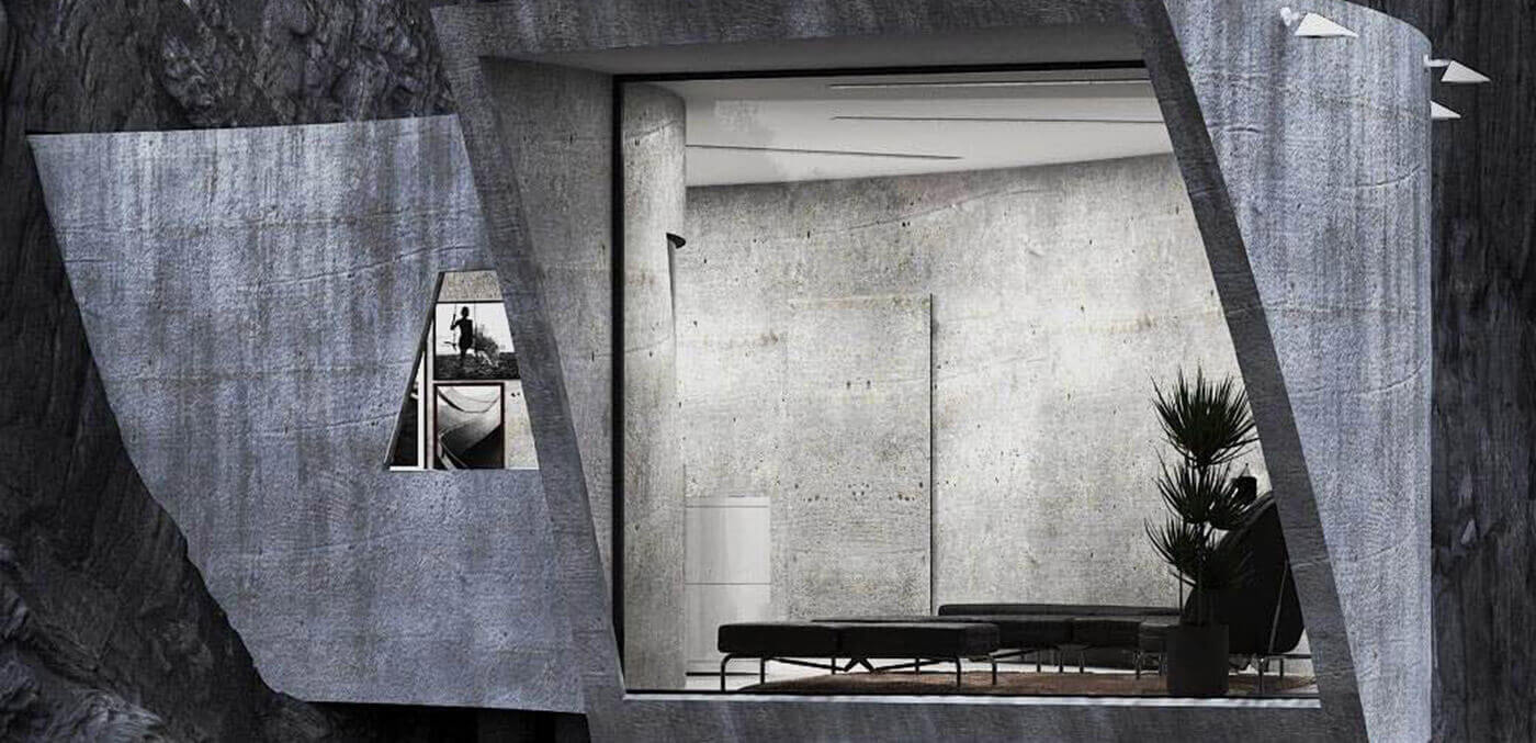 Looking point in the Concrete House