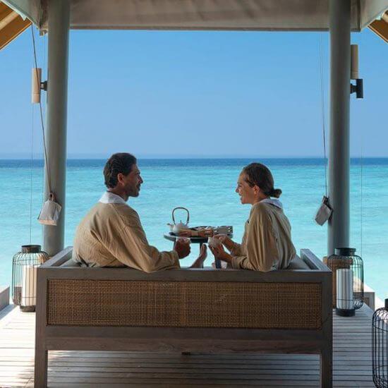 Merana Spa Wellness area with couple at Vakkaru Maldives
