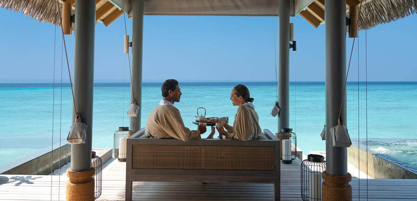 Merana Spa Wellness area with couple at Vakkaru Maldives