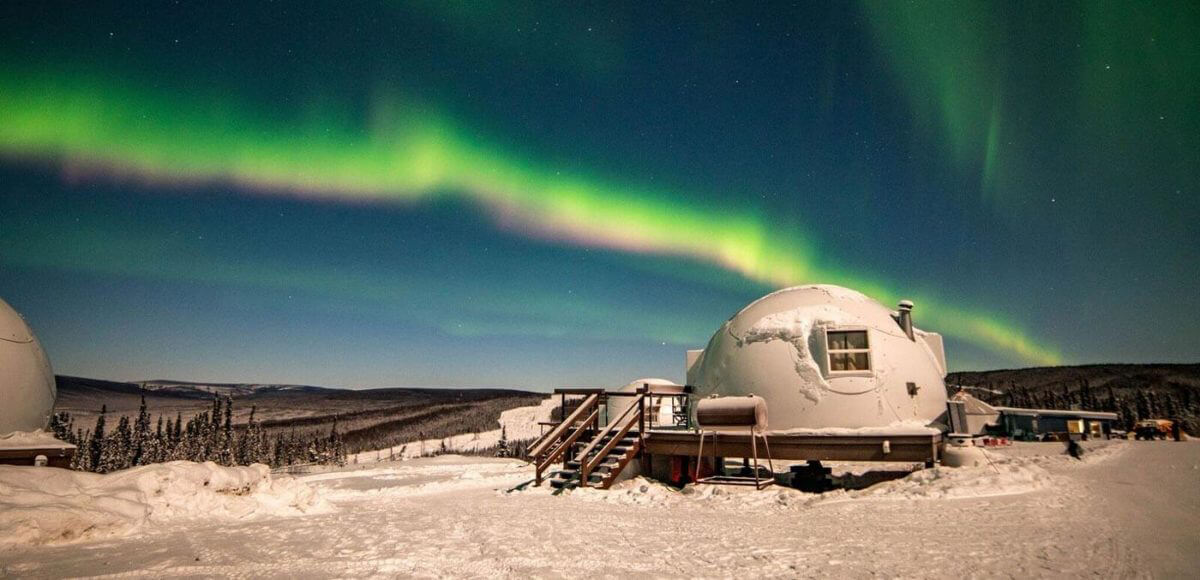 Northern lights at Borealis Basecamp