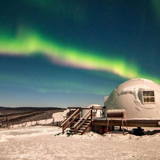 Northern lights at Borealis Basecamp