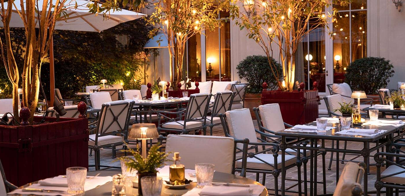 Patio at La Réserve Paris