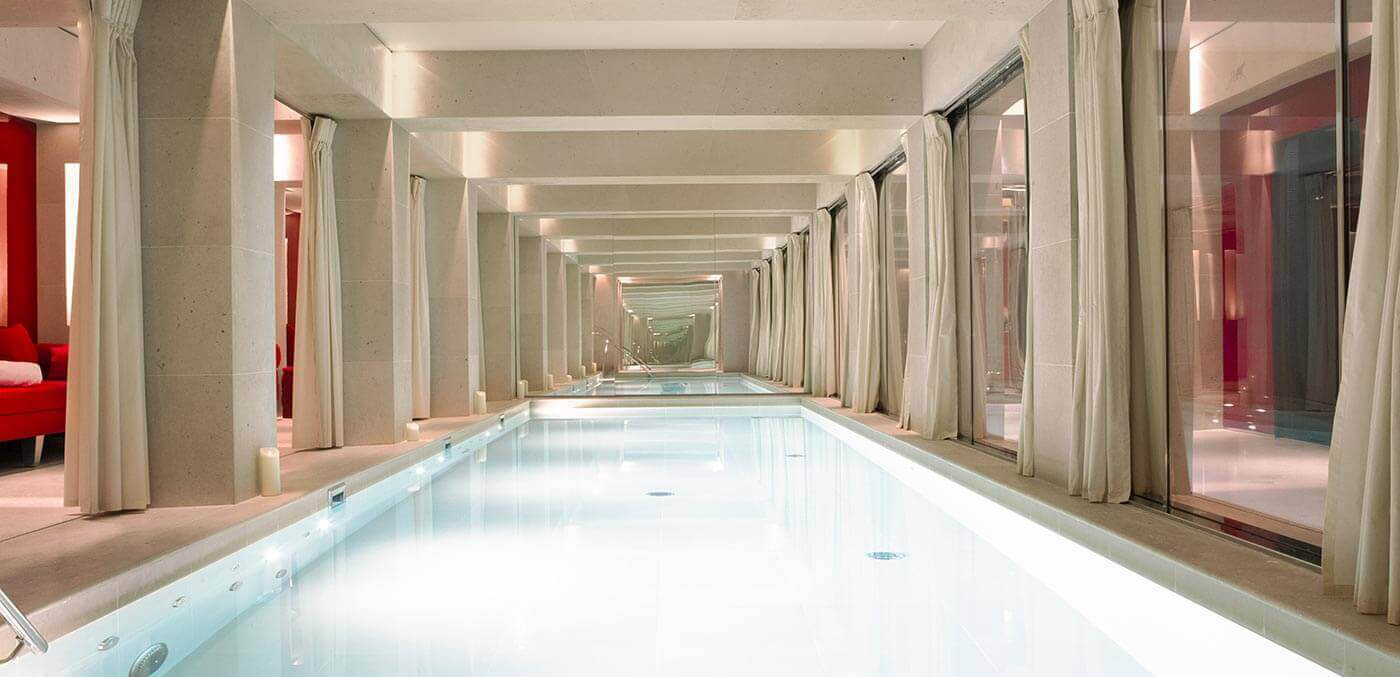 Pool at La Réserve Paris – Hotel and Spa