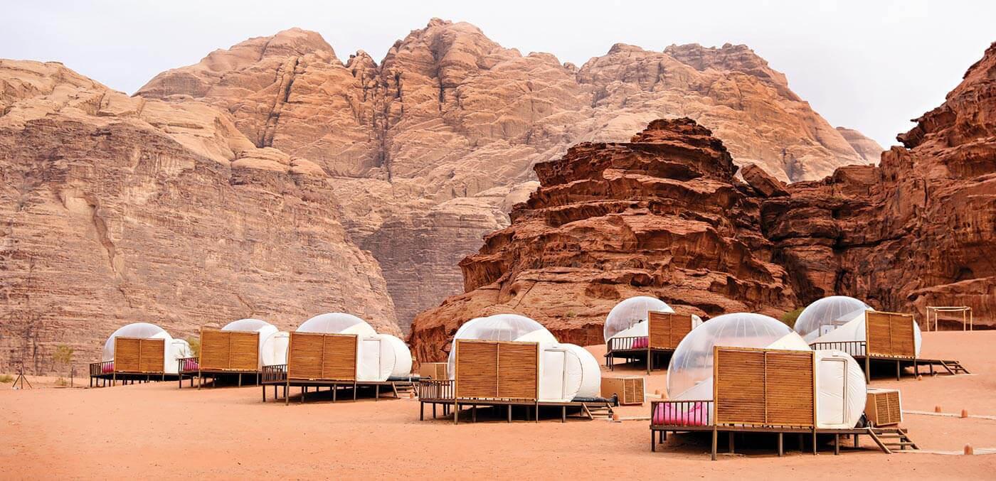 Stargazing suites at Bubble Luxotel Wadi Rum