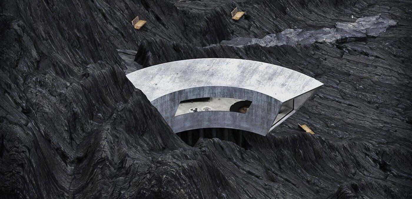 The Concrete House unique design