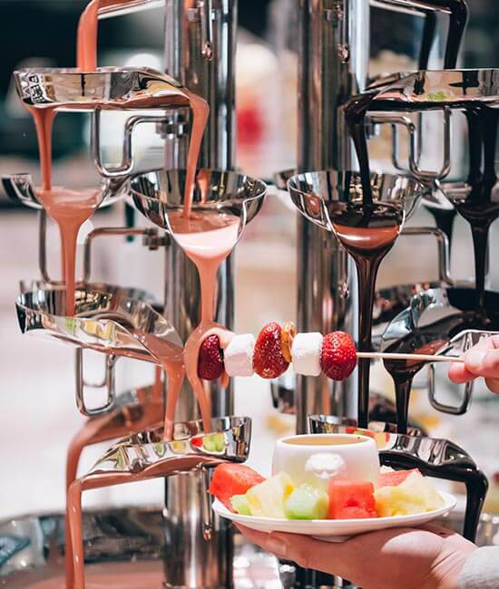 Chocolate Fountain at Kitchens on Kent