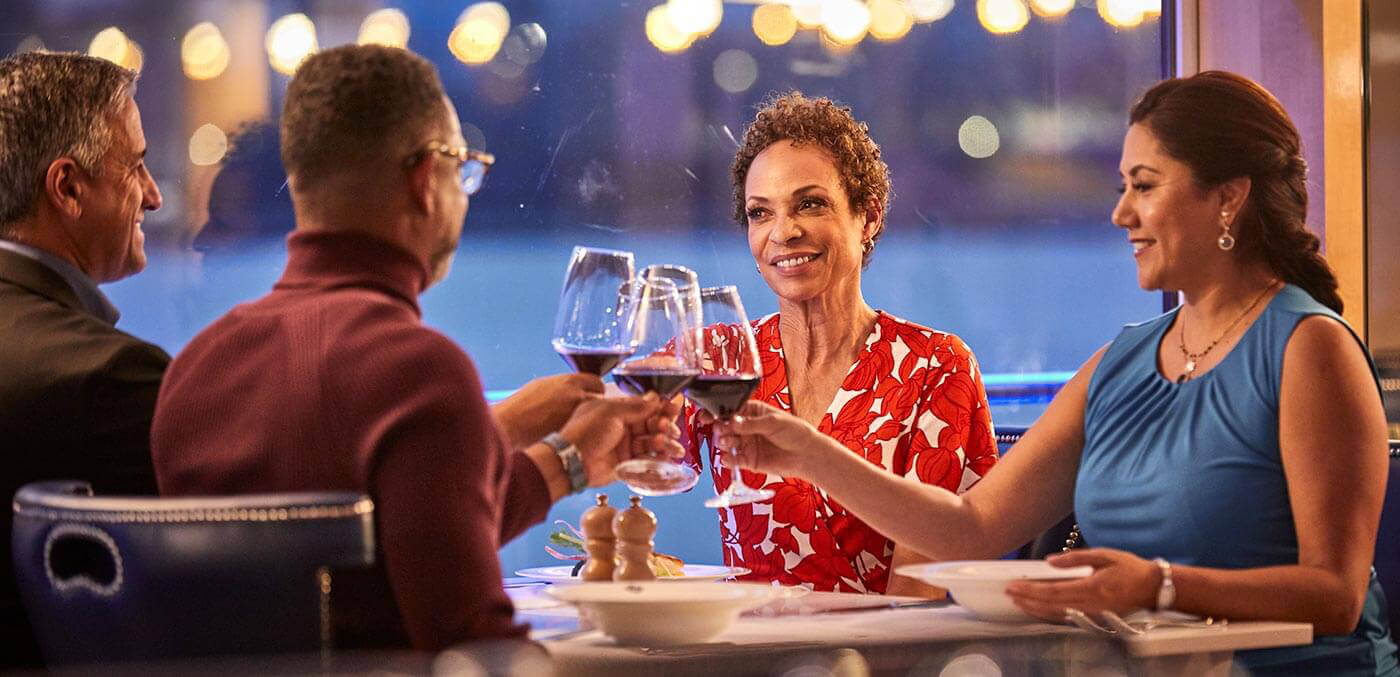 Dining onboard a Uniworld Cruise