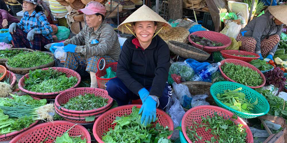 Local produce markets in Hoi An's Old Town