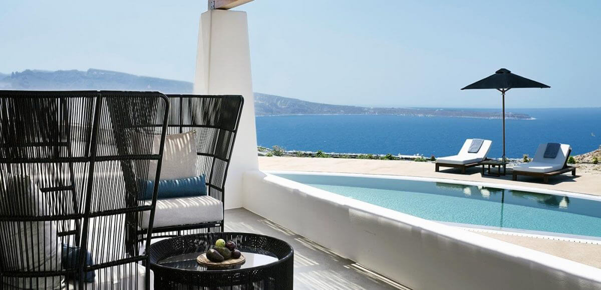 Private Pool Villa at Santo Maris Oia Luxury Suites and Spa