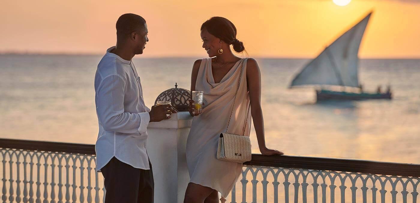 Sundowner drinks at Park Hyatt Zanzibar