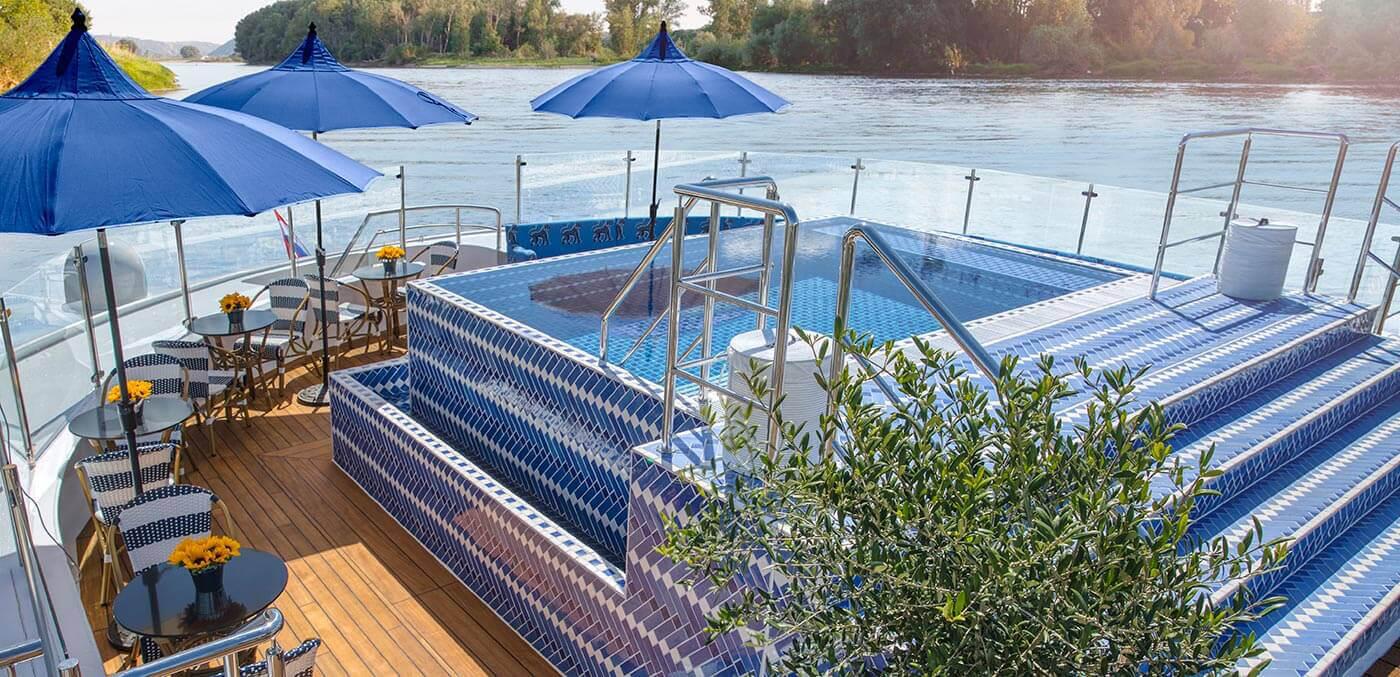 Uniworld Soleil Deck Infinity Pool
