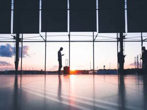 coronavirus, travel, airport