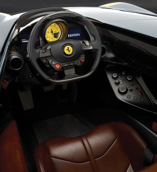 Interior of Ferrari Monza SP1