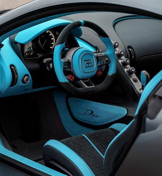 Interior of Bugatti Divo