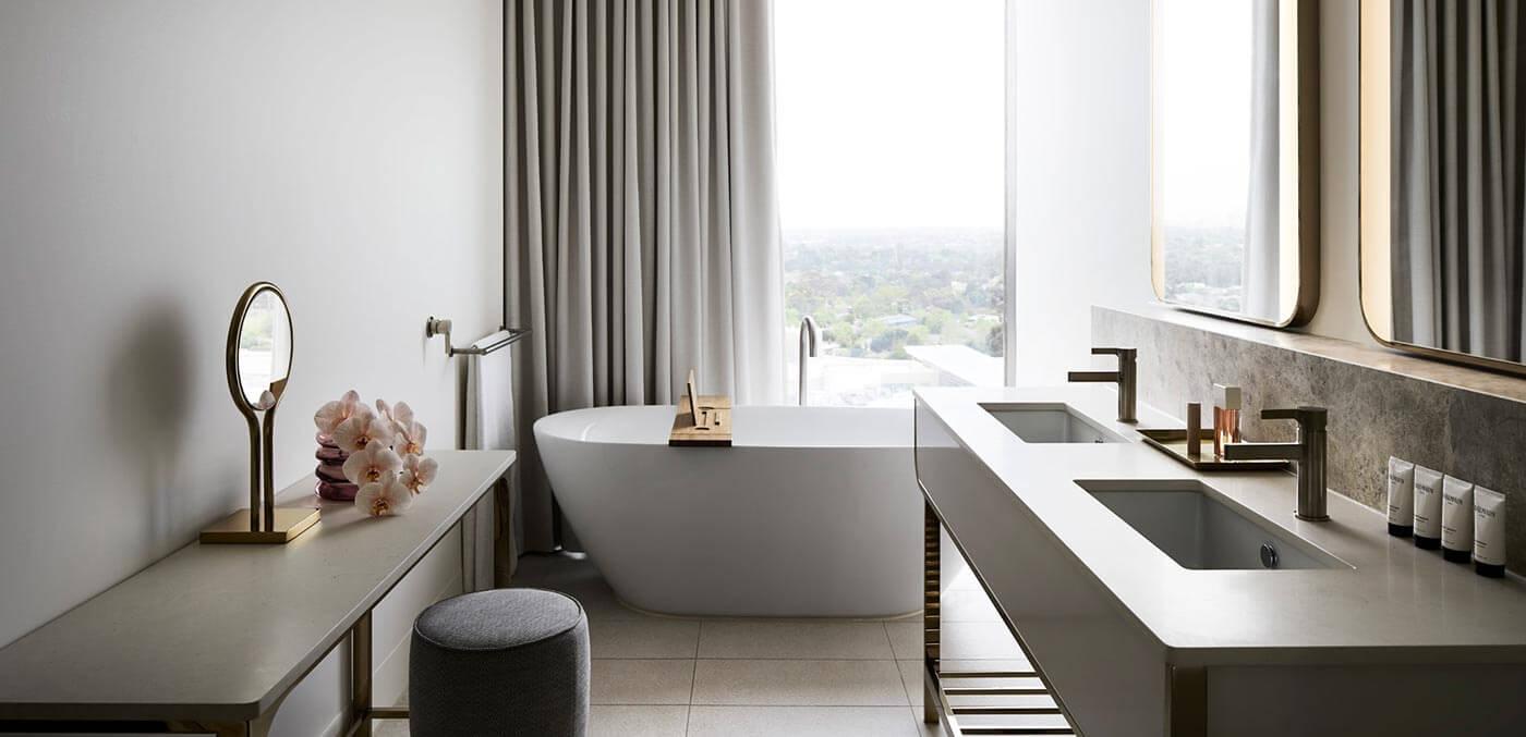 Bathroom in the Deluxe Suite