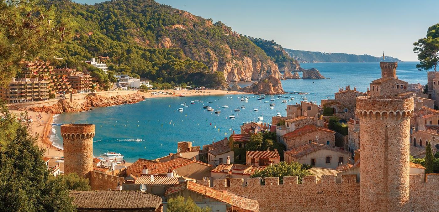 Charming towns like Tossa Del Mar line the Costa Brava