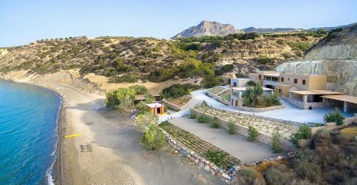 Crete Beach House - the sandy beach where turtles come to lay there eggs