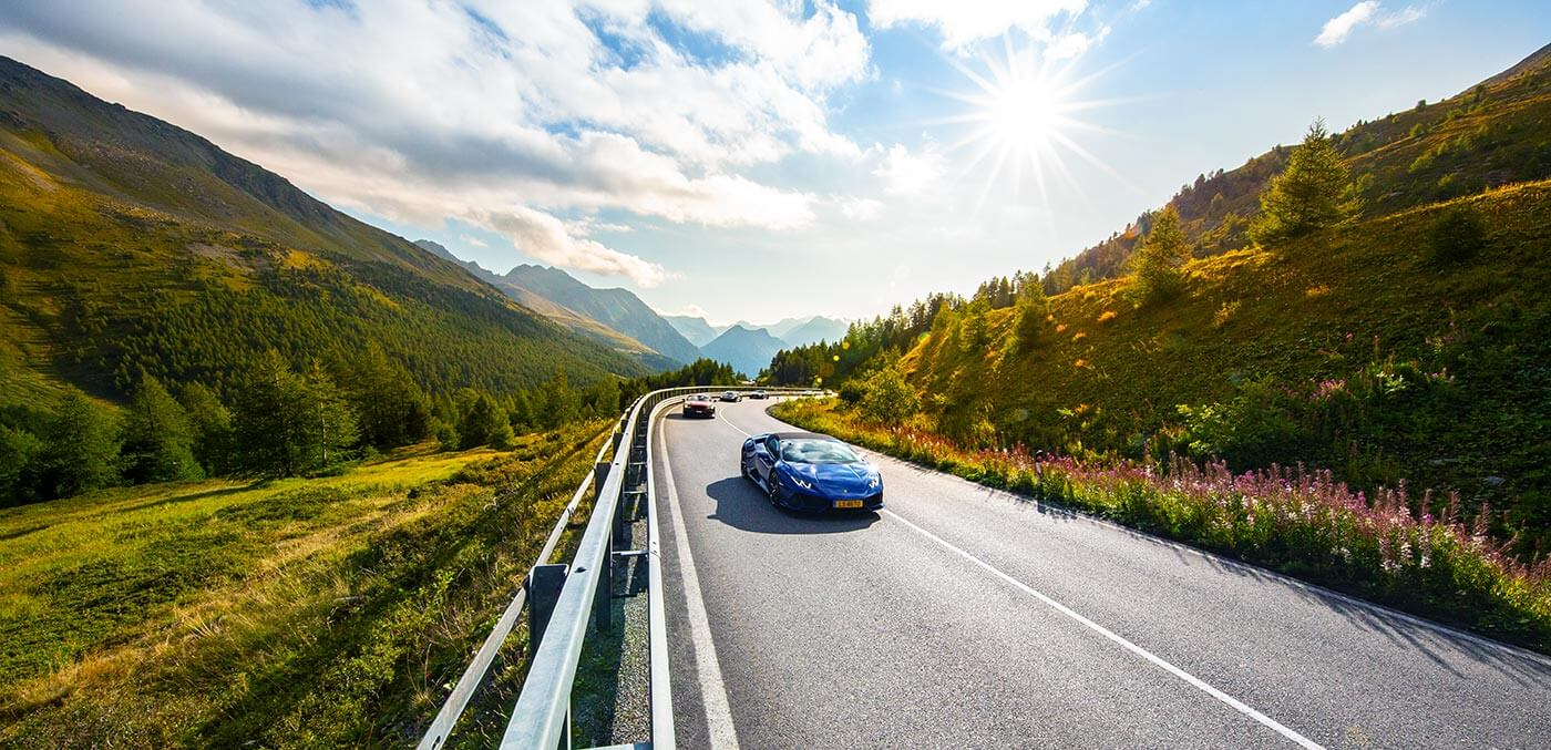 Supercar driving tour of Italy