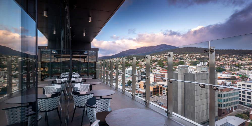 Aura Hobart Rooftop bar © Atomic Blender