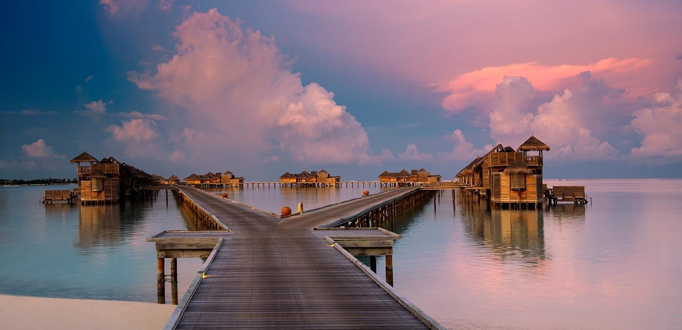 The jetty at sunset, Gili Lankanfushi