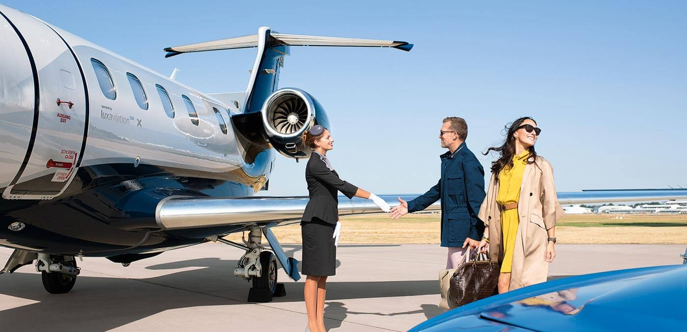Boarding a flight with ExecuJet