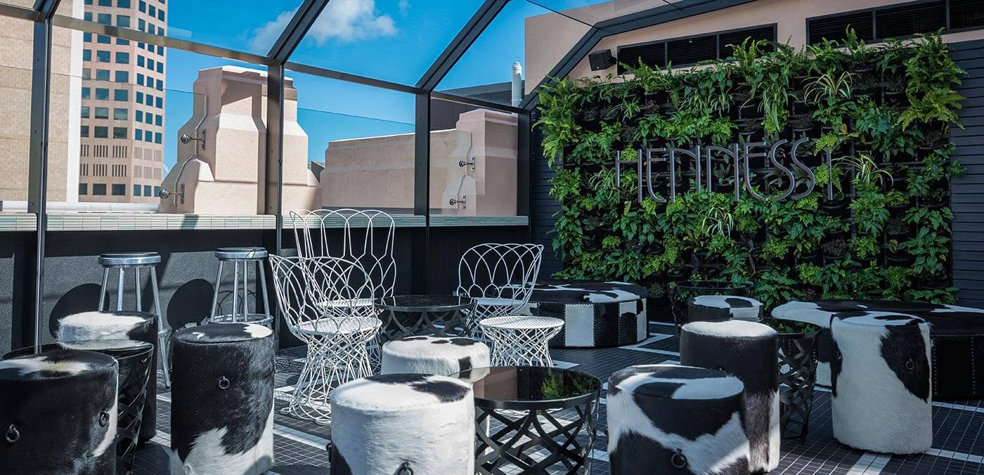 Hennessy Rooftop Bar in the Mayfield Hotel
