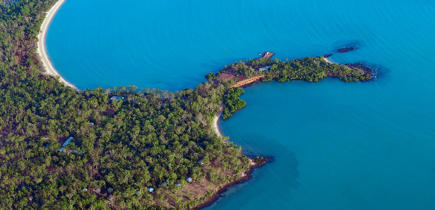 Aerial of Seven Spirit Bay © Steve Strike
