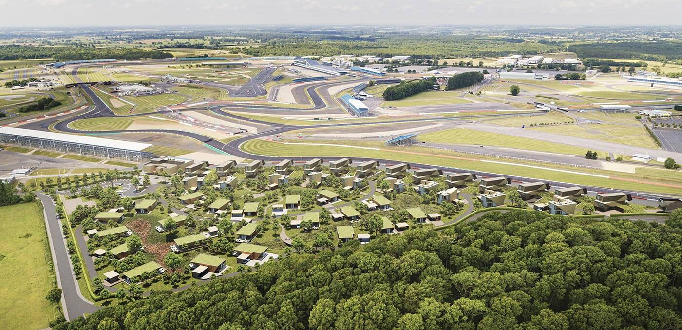 Aerial view of Escapade Silverstone