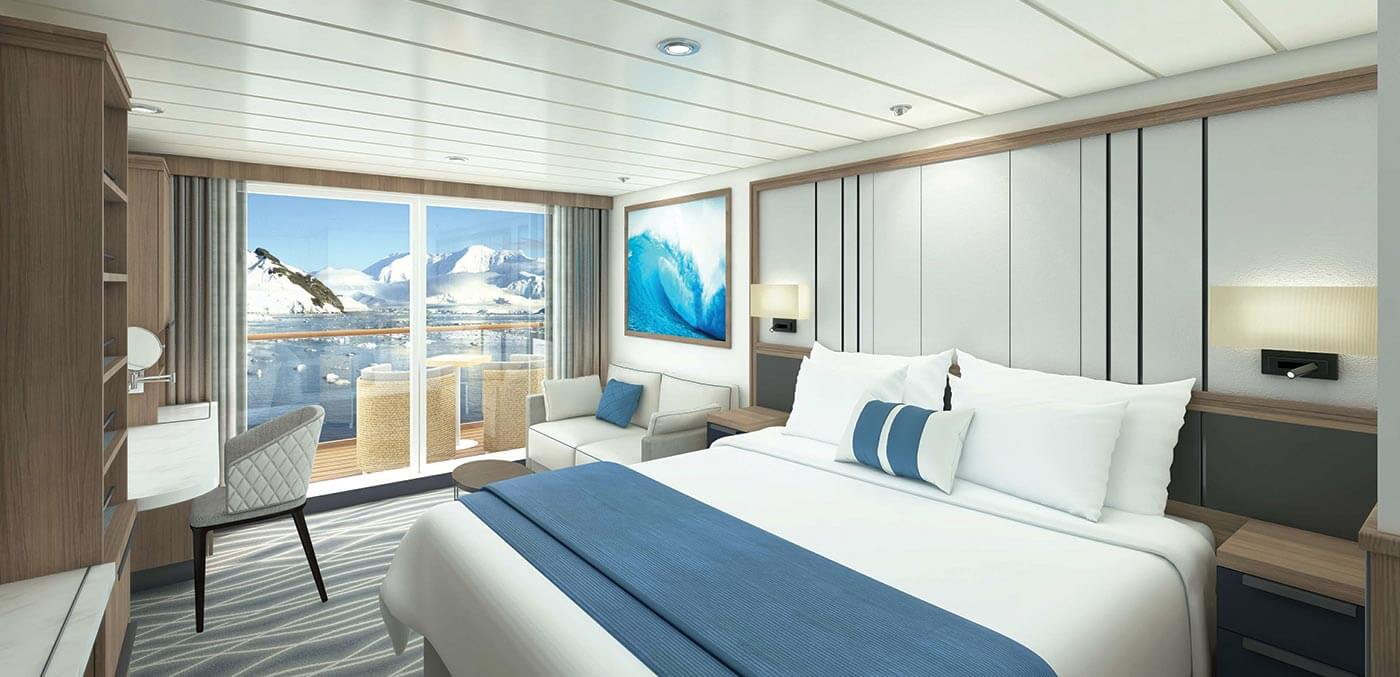 Category F stateroom onboard Ocean Victory
