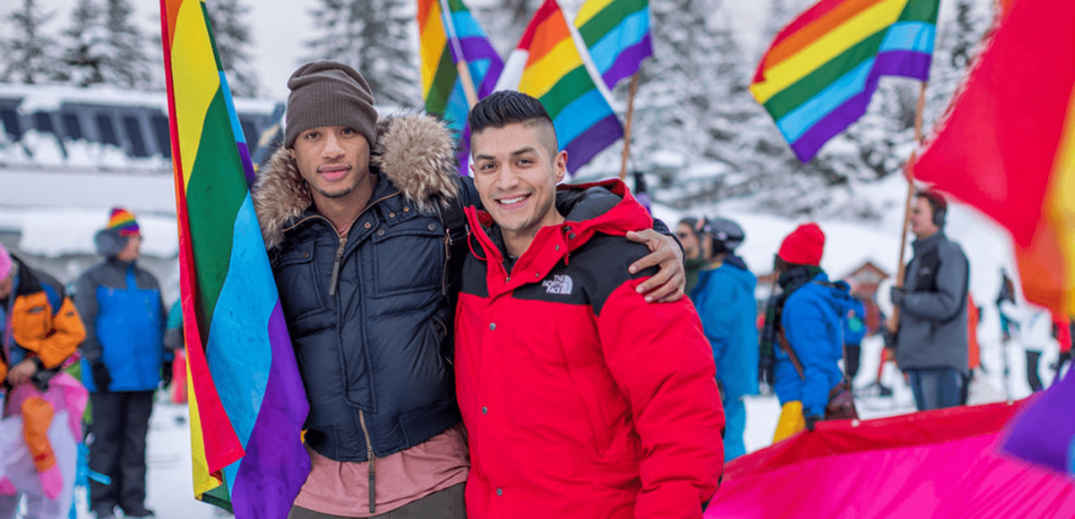 Couple at Whistler Pride and Ski Festival