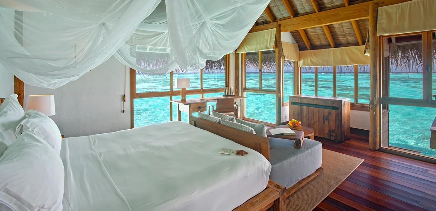 Villa bedroom at Gili Lankanfushi