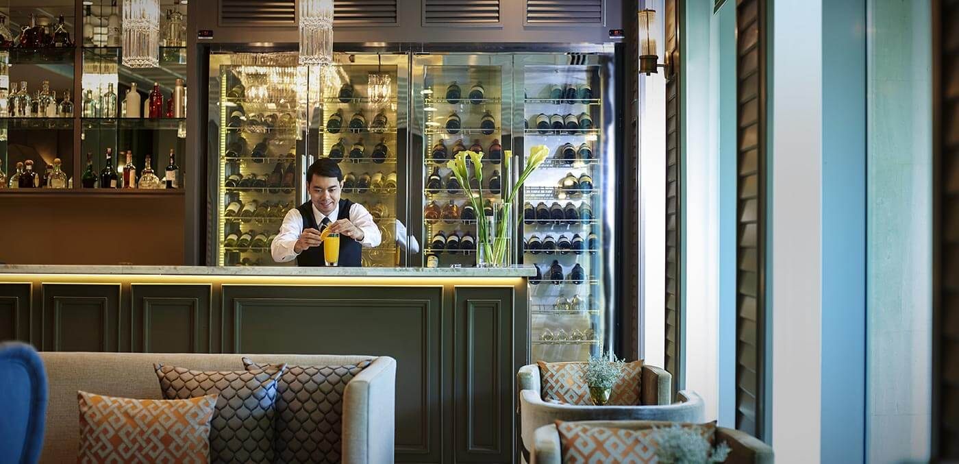 Bar service at Pool at Oriental Residence Bangkok