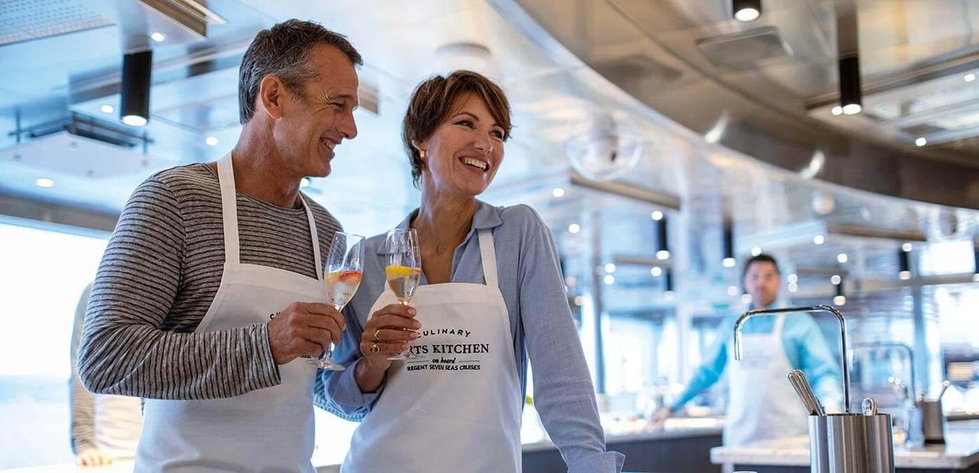 Culinary Arts Kitchen onboard Seven Seas Splendor