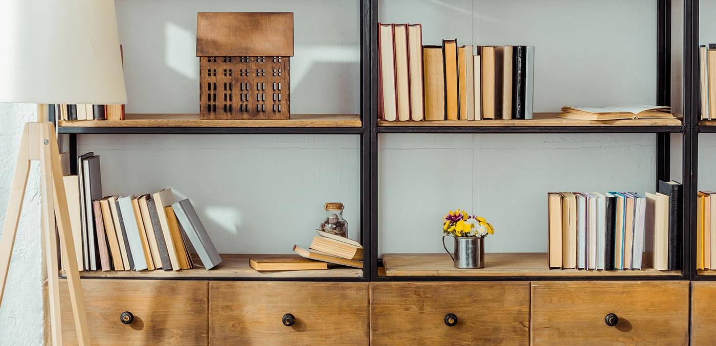 Organise your bookshelves to be a talking point