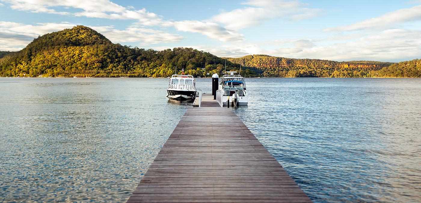 Marramarra Lodge wharf