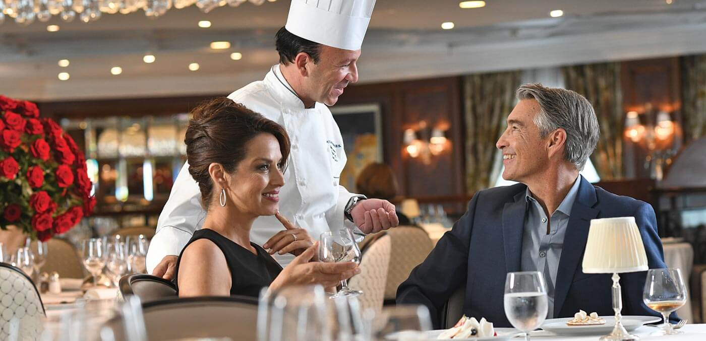 Grand Dining Room on board an Oceania Cruise