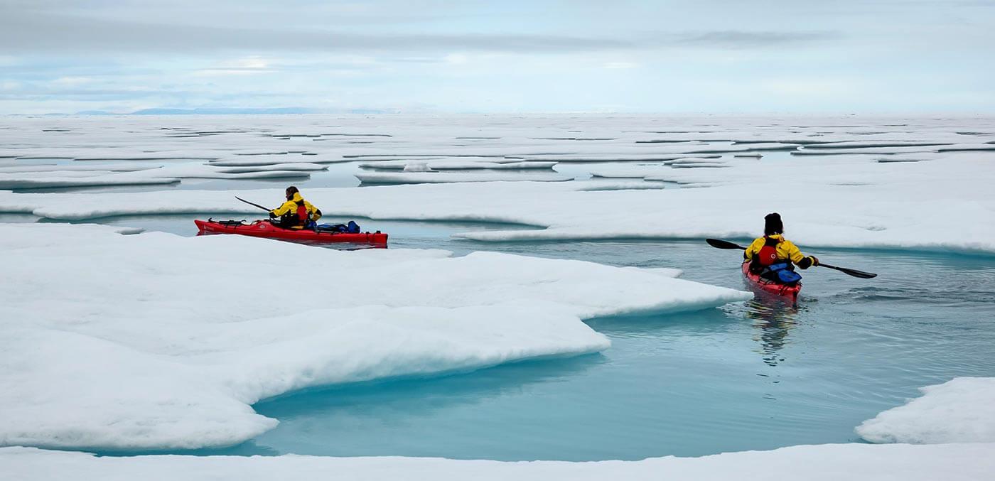 Kayaking in Antarctica with Ponant