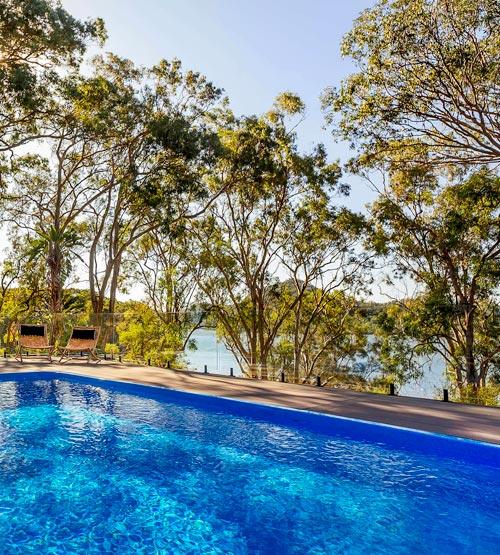 The pool at Marramarra Lodge