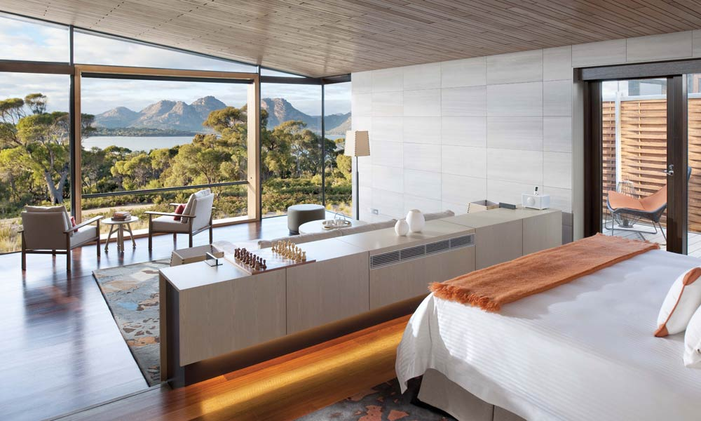 secluded accommodation at Saffire Freycinet