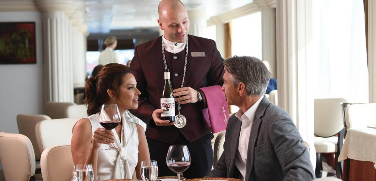 Wine offering onboard an Oceania Cruise