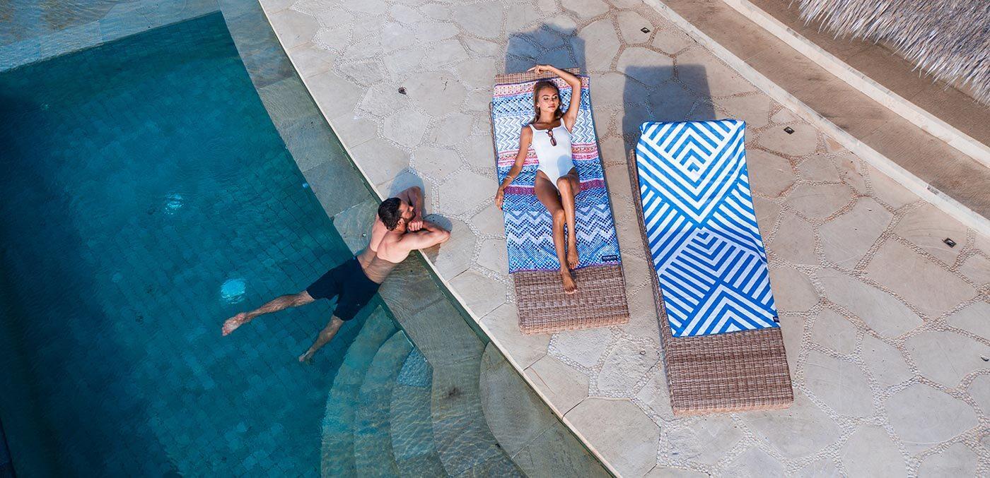 A sand-free beach towel by Tesalate