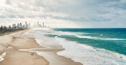 Aeria view of the Gold Coast