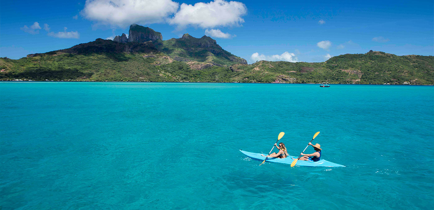 Canoeing in Tahiti