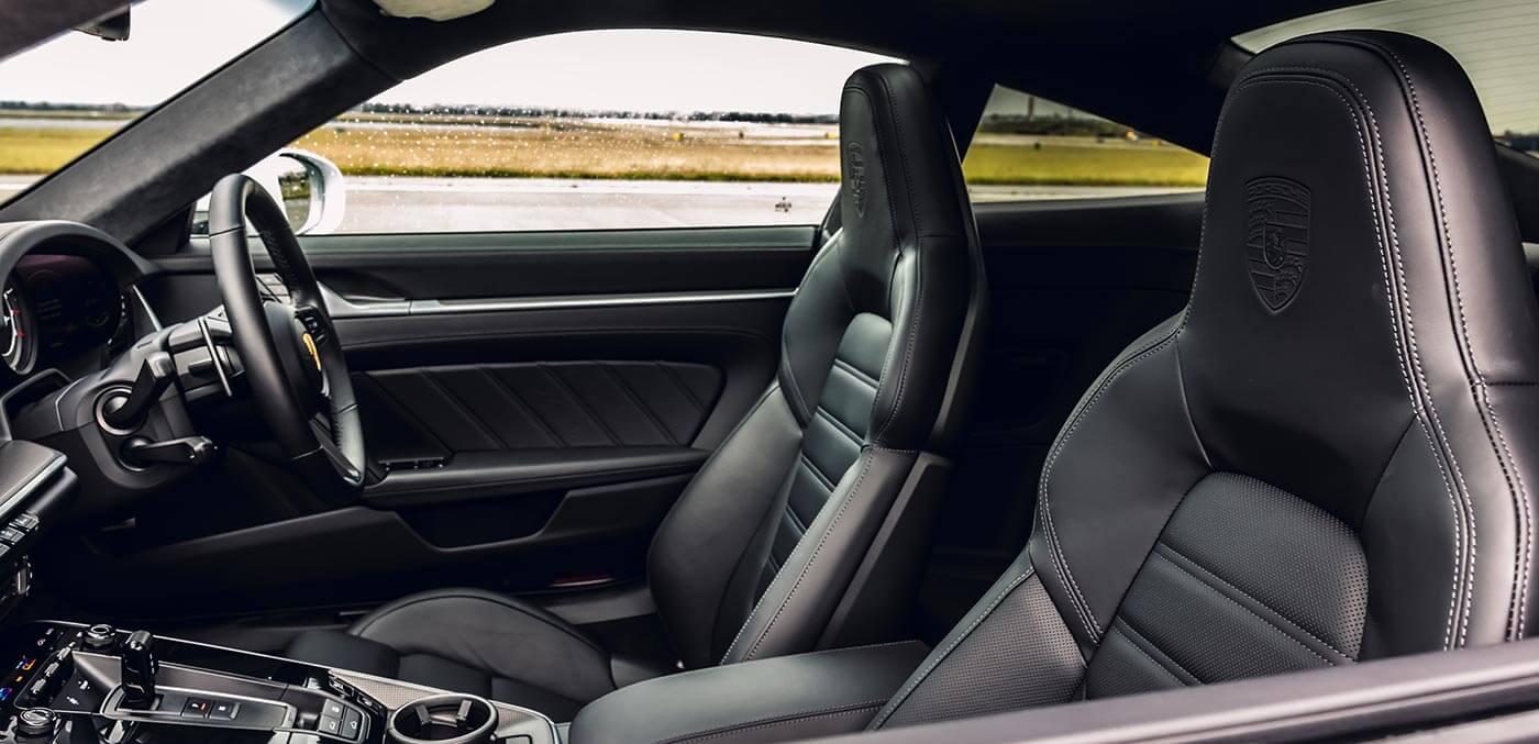 Interior of the new Porsche
