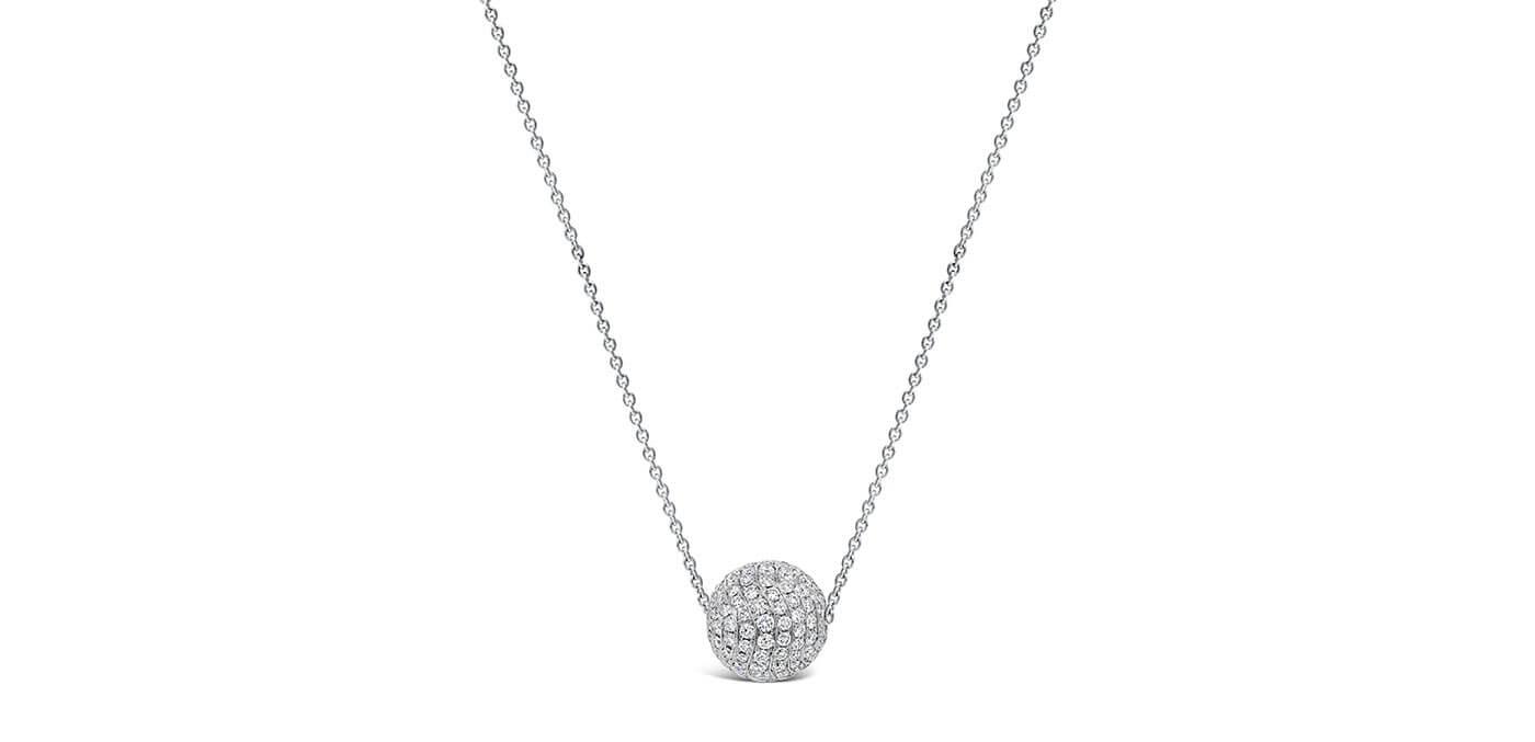 Pave Set Diamond Ball Pendant