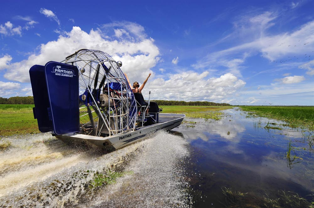 Airboat safari in the NT