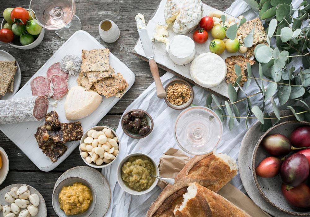 An epic pinic spread by Blue Ginger