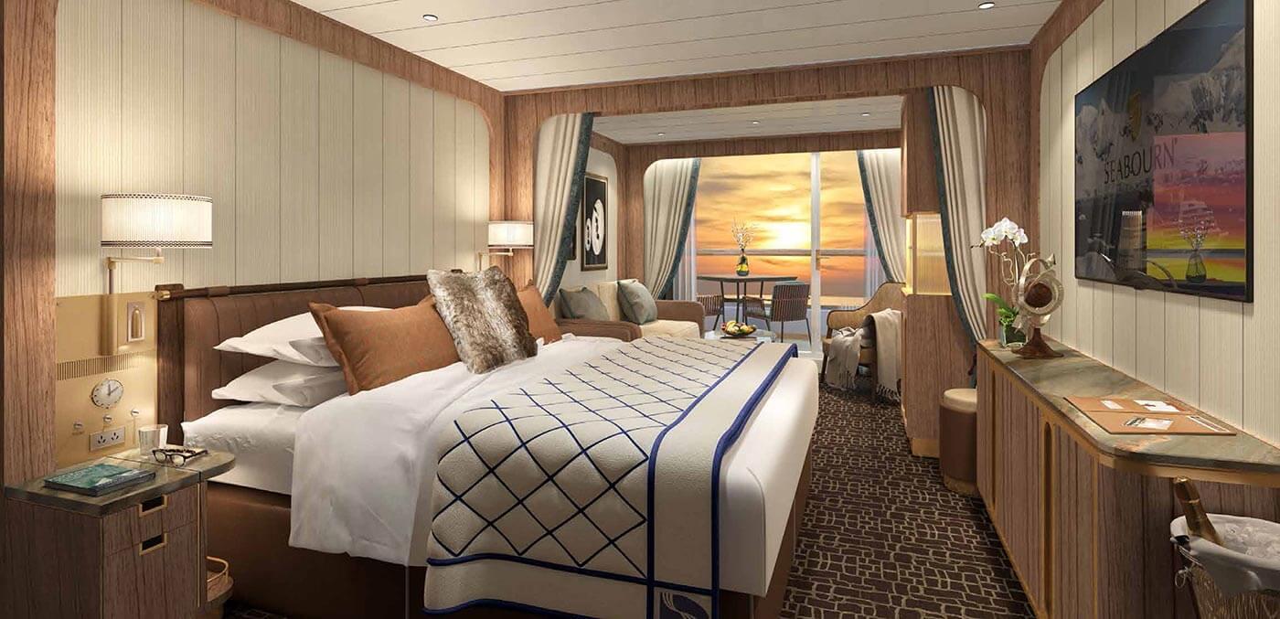 A Veranda Suite on luxe Seabourn Venture