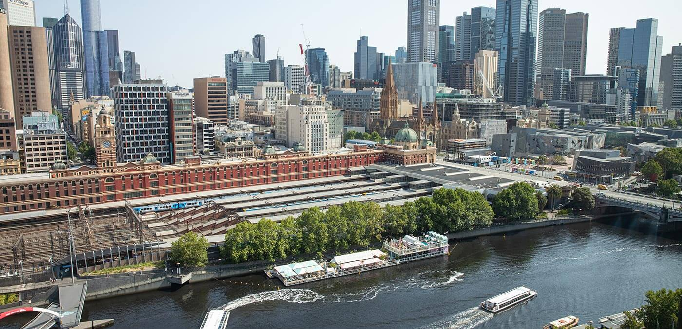 Aerial view of The Langham, Melbourne